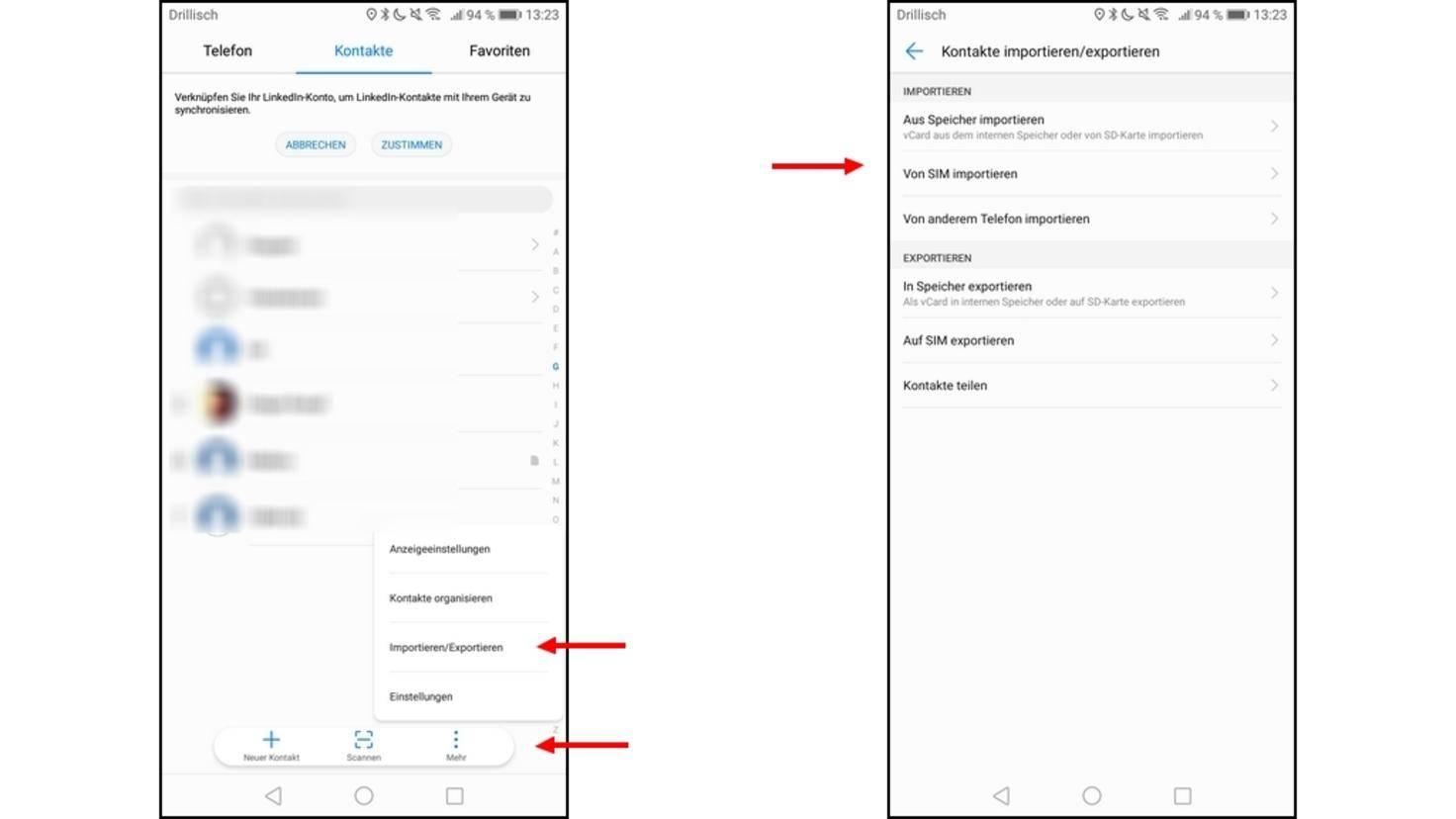 windows phone kontakte sichern