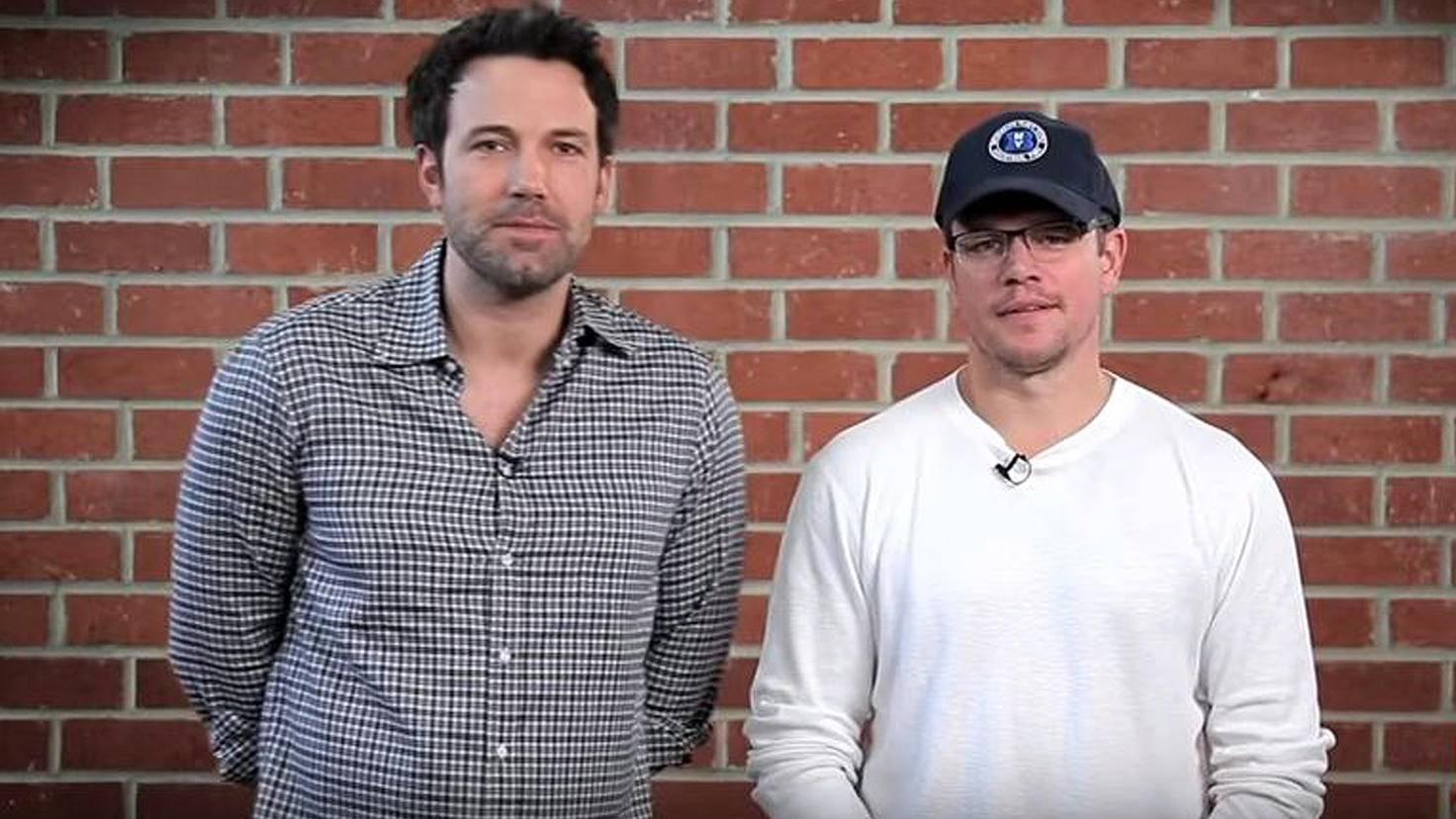 Matt Damon-Ben Affleck-YouTube-Omaze