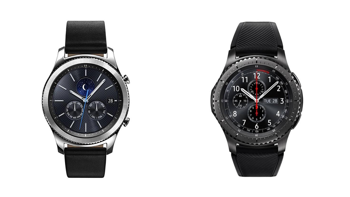 Das Display der Samsung Gear S3 erinnert deutlich an das herkömmlicher Armbanduhren.
