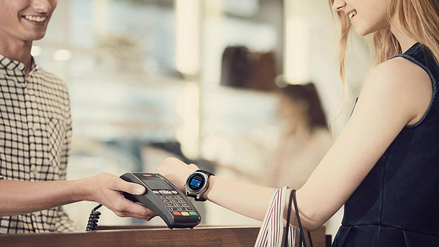Samsung Gear S3-Samsung Pay-Samsung