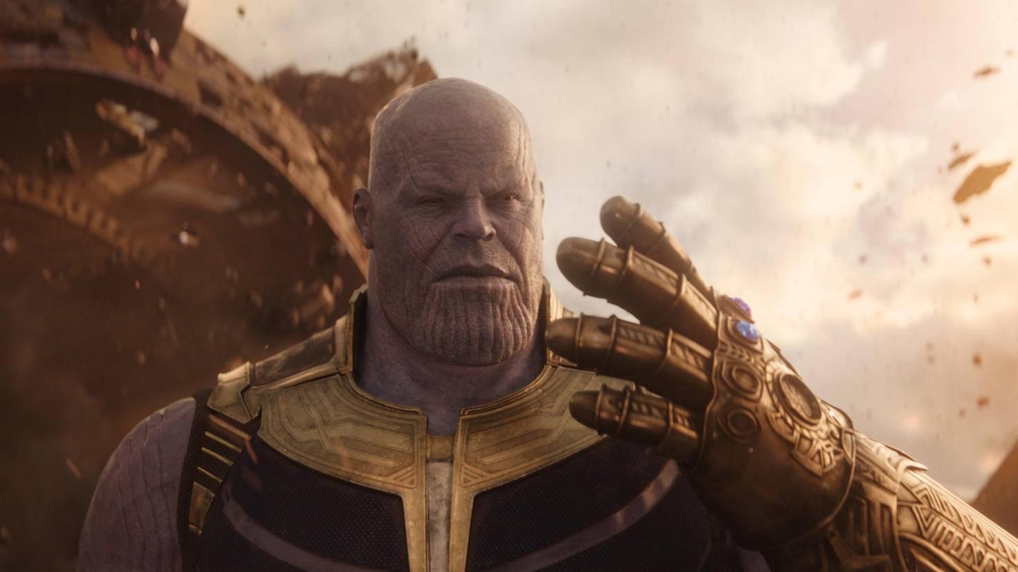 Thanos mit Infinity Gauntlet in Avengers: Infinity War