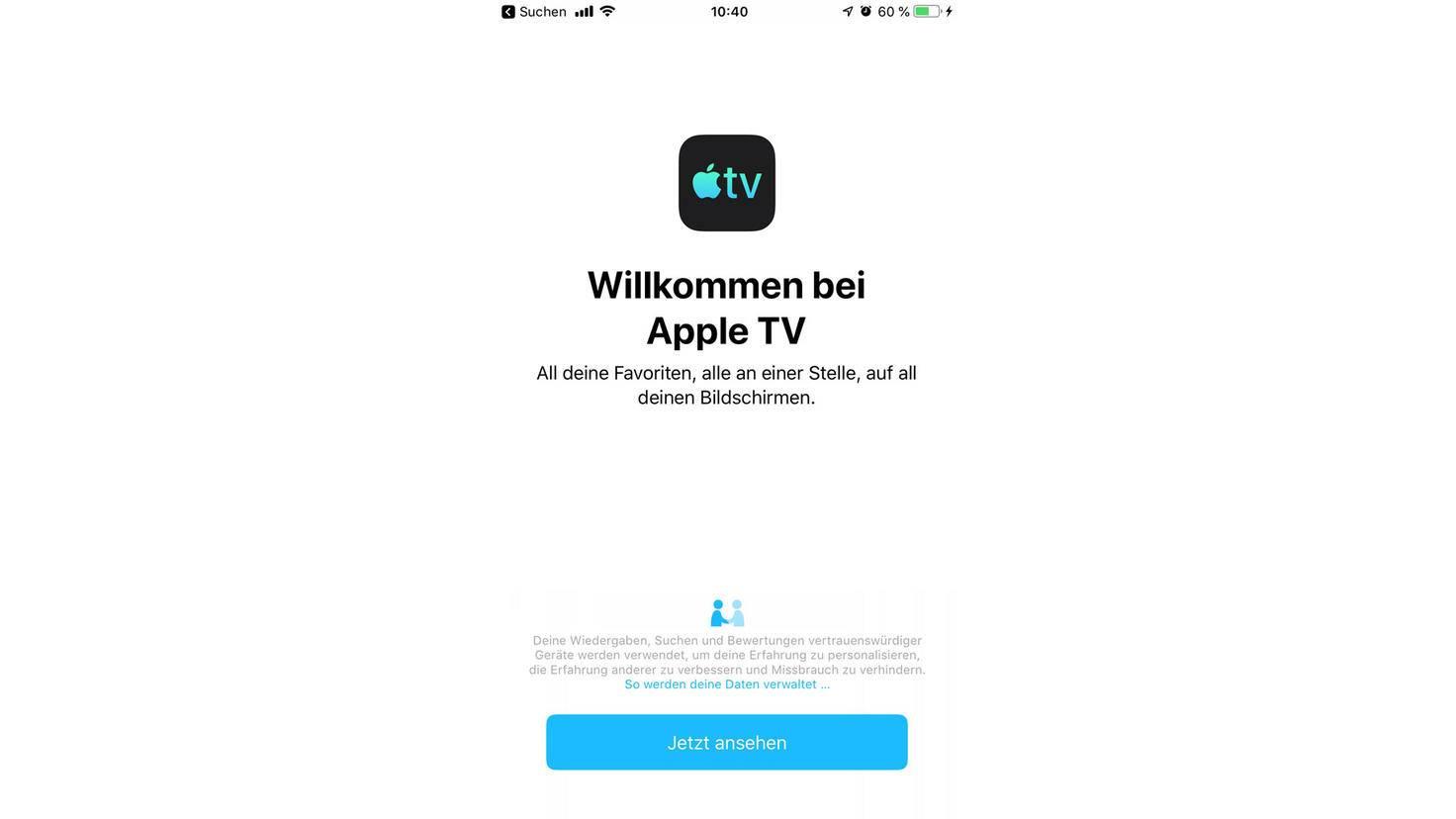 Seit iOS 12.3 präsentiert sich die TV-App in einem frischeren Look.