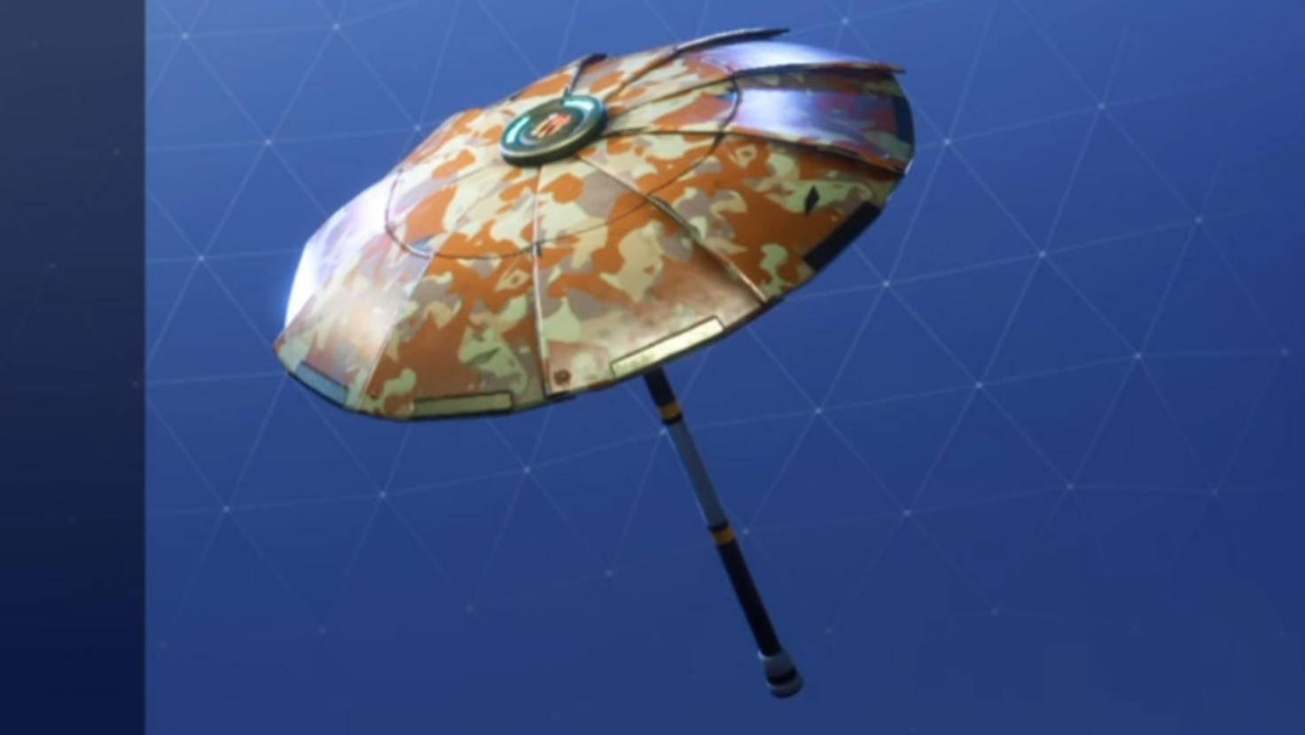 Den goldenen Camouflage-Schirm gibt's nur für Geld, ...