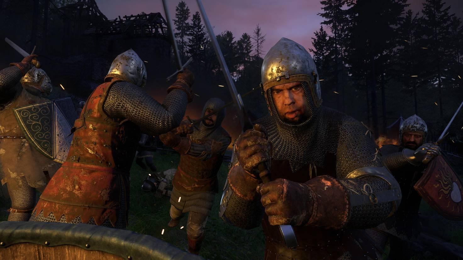Dieser Gegner mit Eisenhelm ist am Kopf kaum verwundbar. Allerdings ist sein Gesicht ungeschützt ...