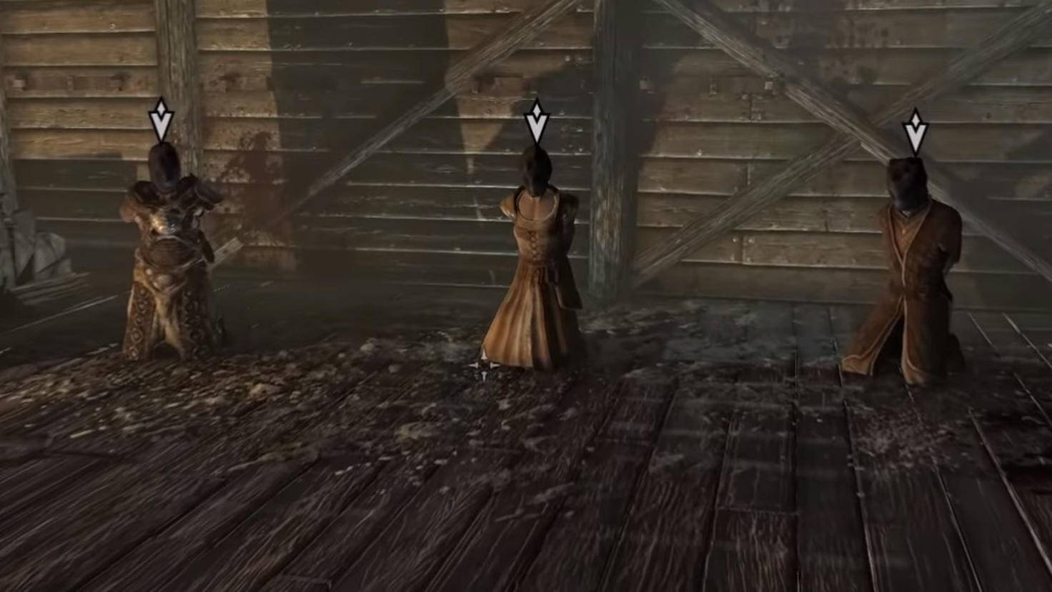 Astrid gibt Dir den Auftrag, einen von drei Gefangenen zu ermorden.