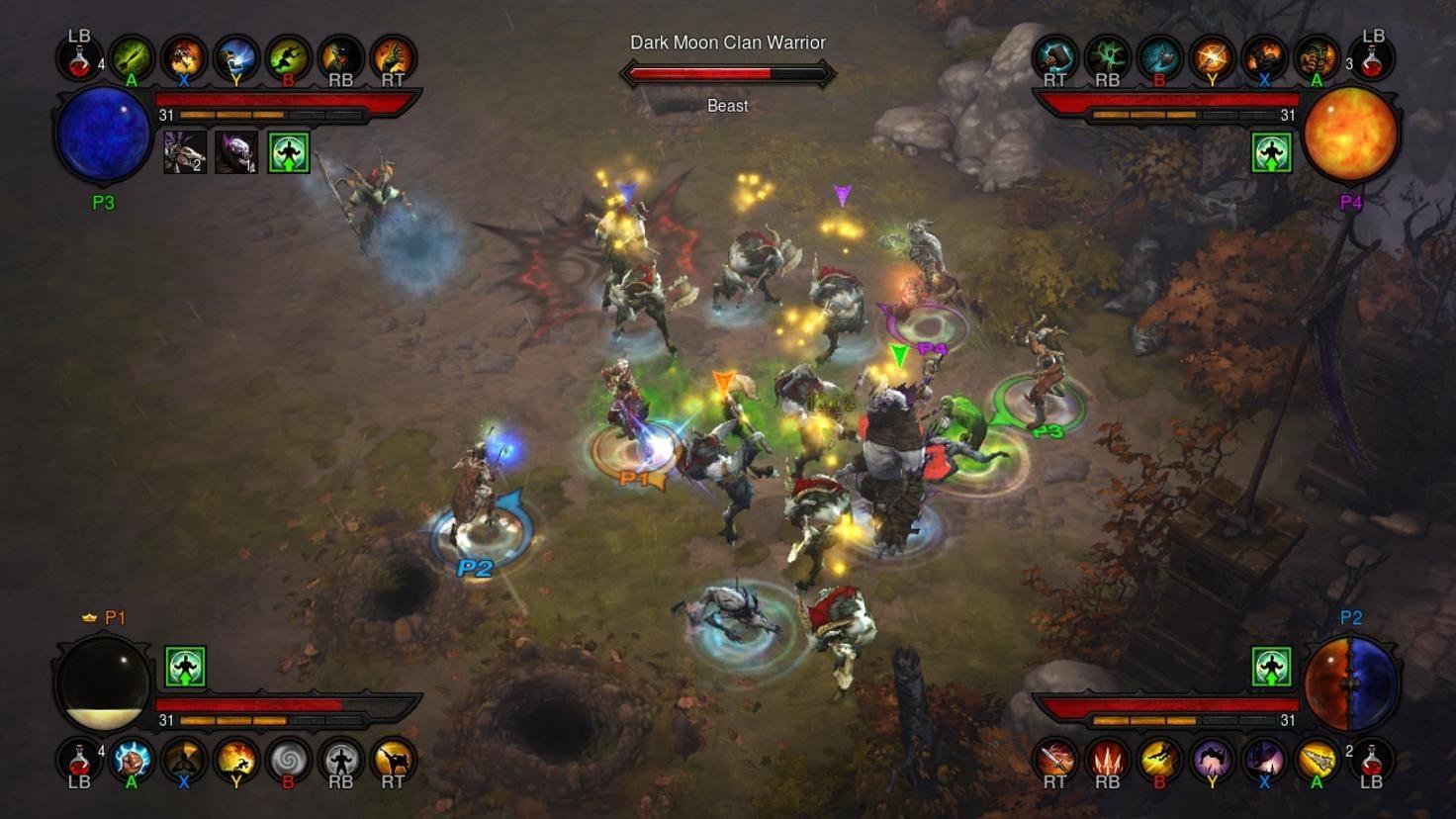 """""""Diablo 3"""" ist auch als Multiplayer-Spiel beliebt – und damit perfekt für die NIntendo Switch geeignet, die ab Werk zwei Controller mitbringt."""