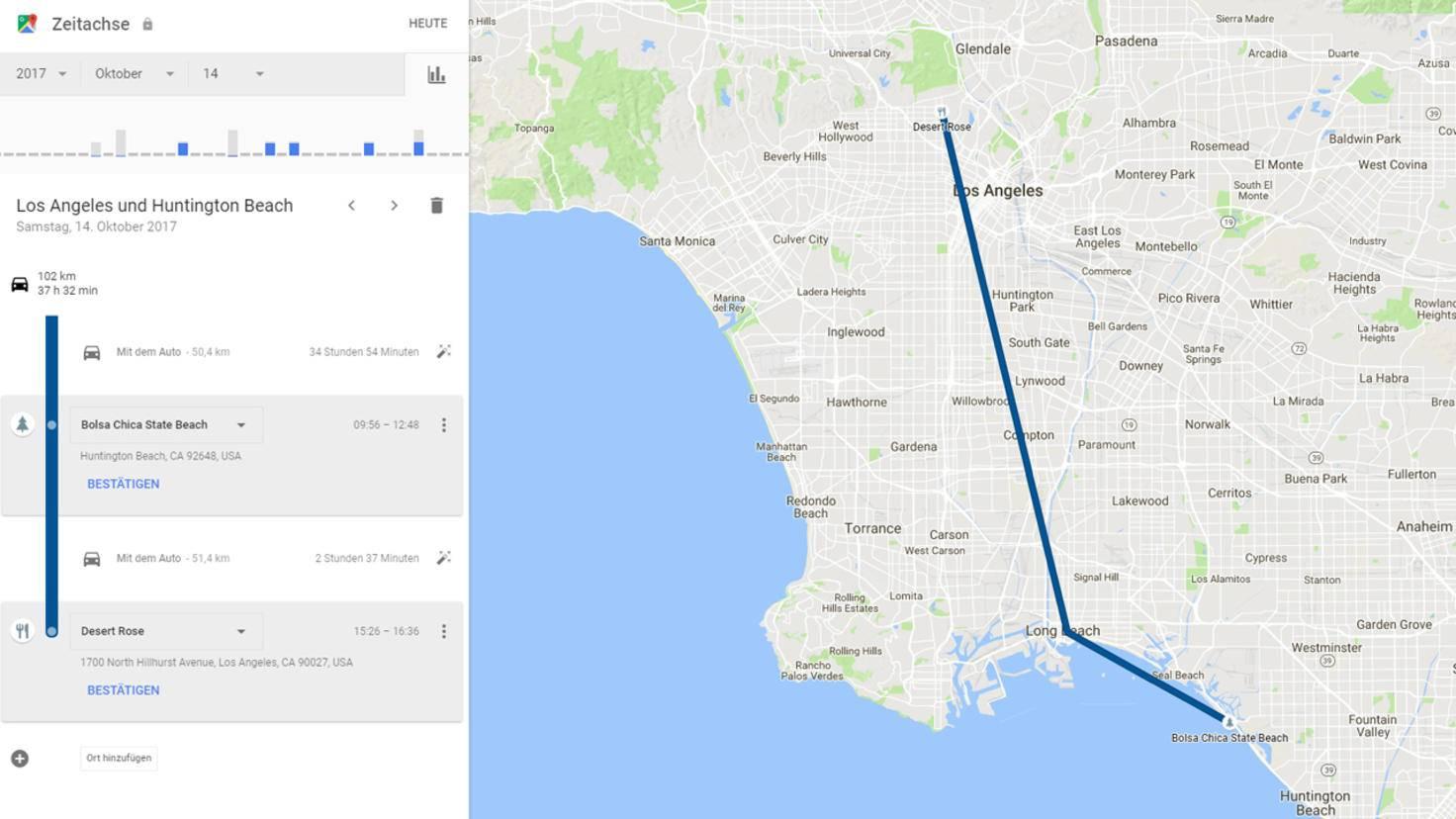 ... kannst Du Dir mithilfe von Googles Zeitachse in Erinnerung rufen.