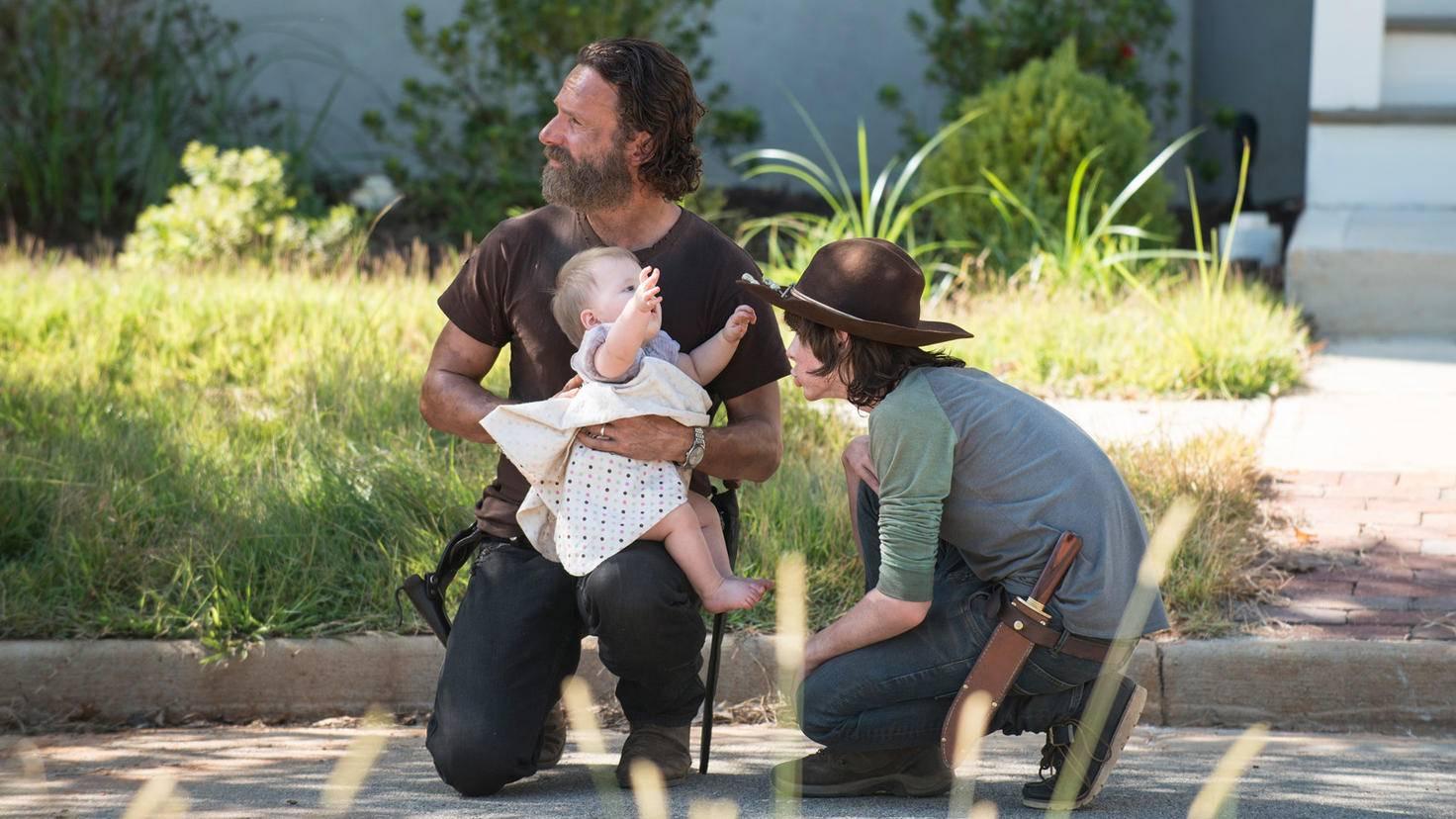 The Walking Dead-Staffel 5-Rick Grimes-Carl Grimes-Judith-Gene Page-AMC