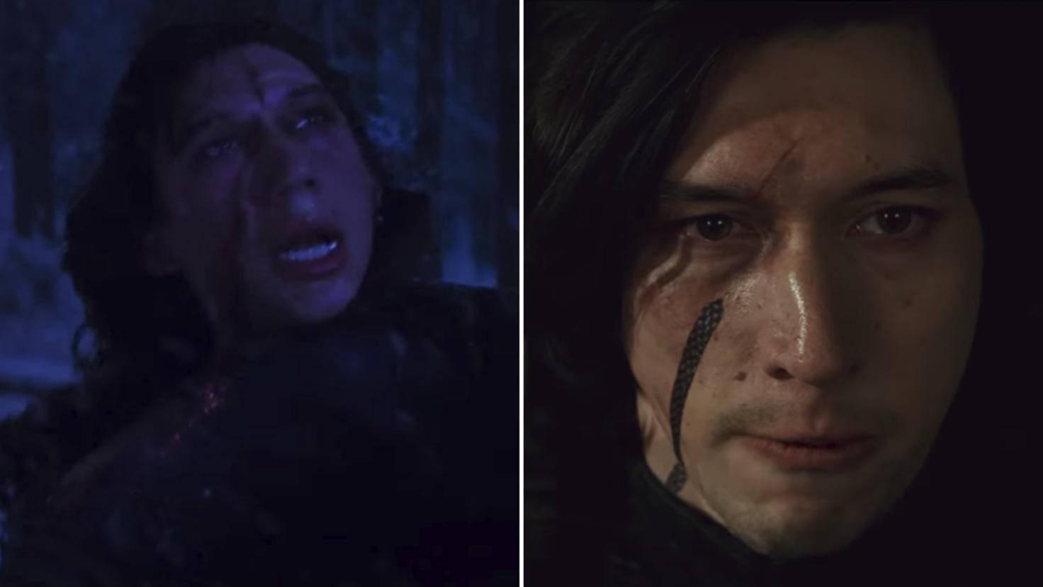 """Für """"Star Wars: Die letzten Jedi"""" wurde die Narbe von Kylo Ren verschoben."""