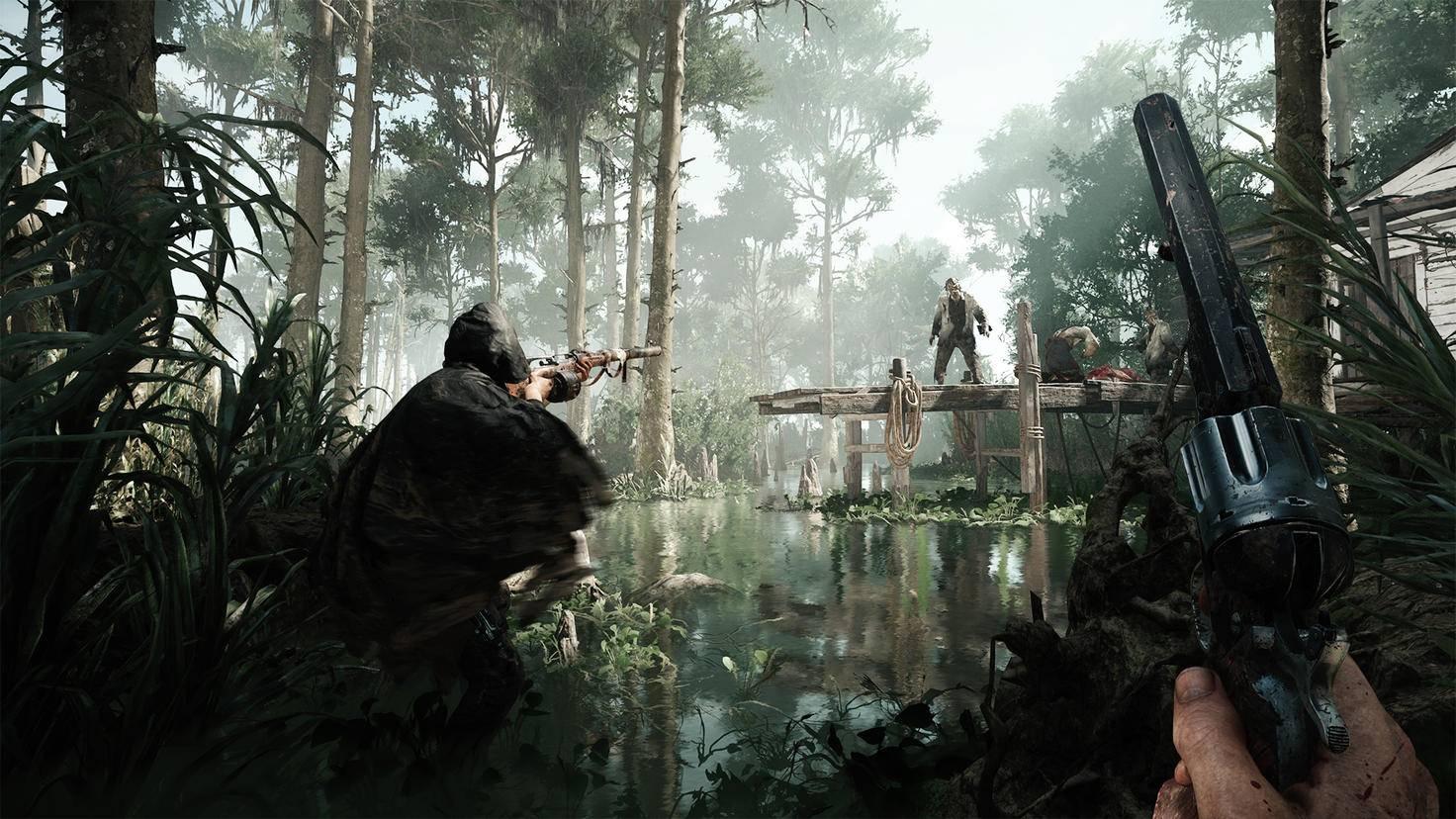 """Zombies, Monster, Permadeath und konkurrierende Jäger-Teams: """"Hunt: Showdown"""" ist kein reines Battle Royale, aber baut auf sehr ähnliche Mechaniken auf."""
