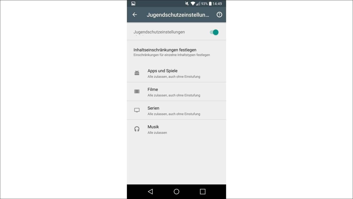 Google-Play-Store-Jugendschutzeinstellungen