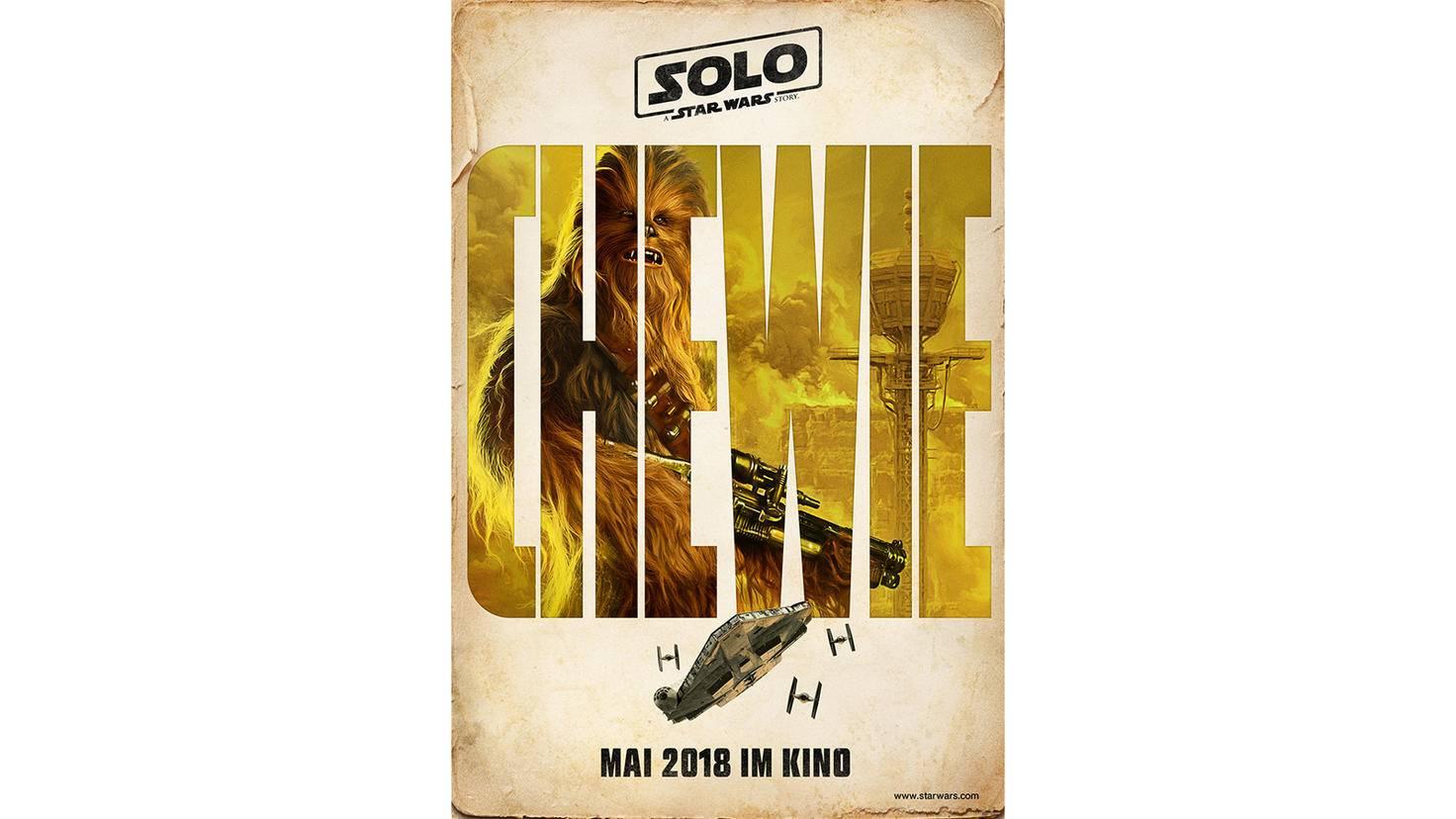 Charakter-Poster von Chewbacca