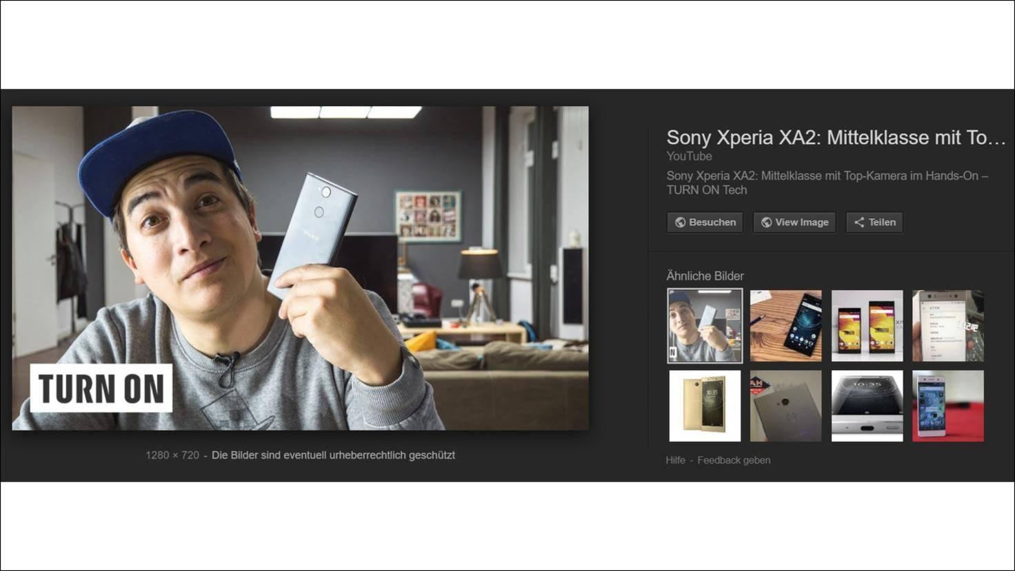 Sony-Xperia-XA2-Turn-On-Google-Bildersuche