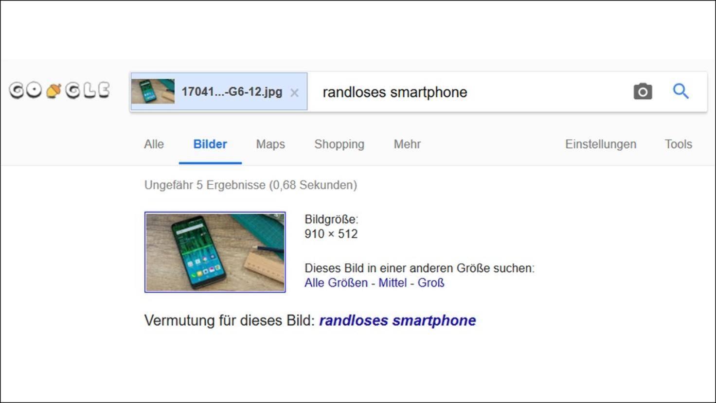 Android Google Bildersuche