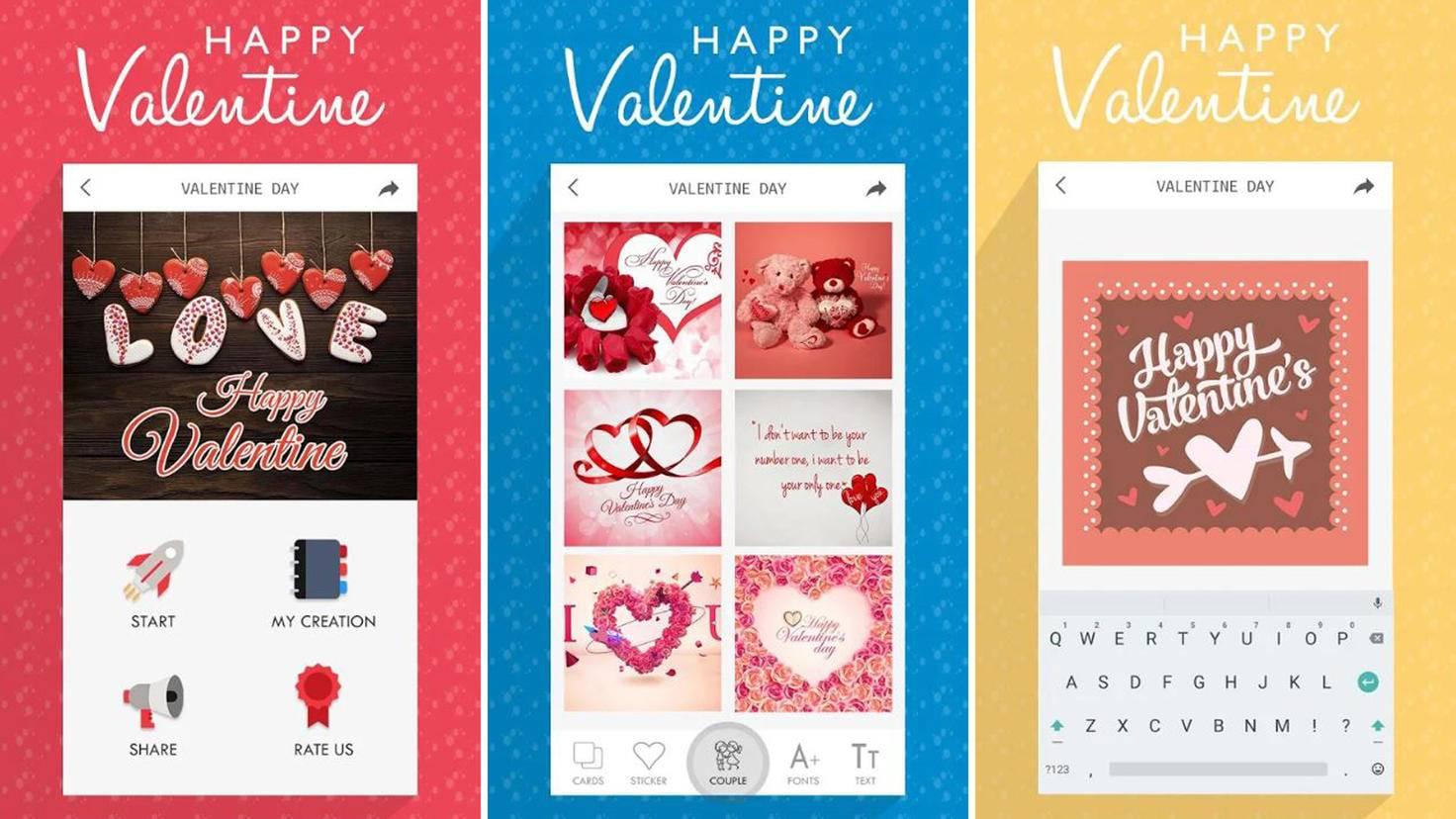 happy valentine app