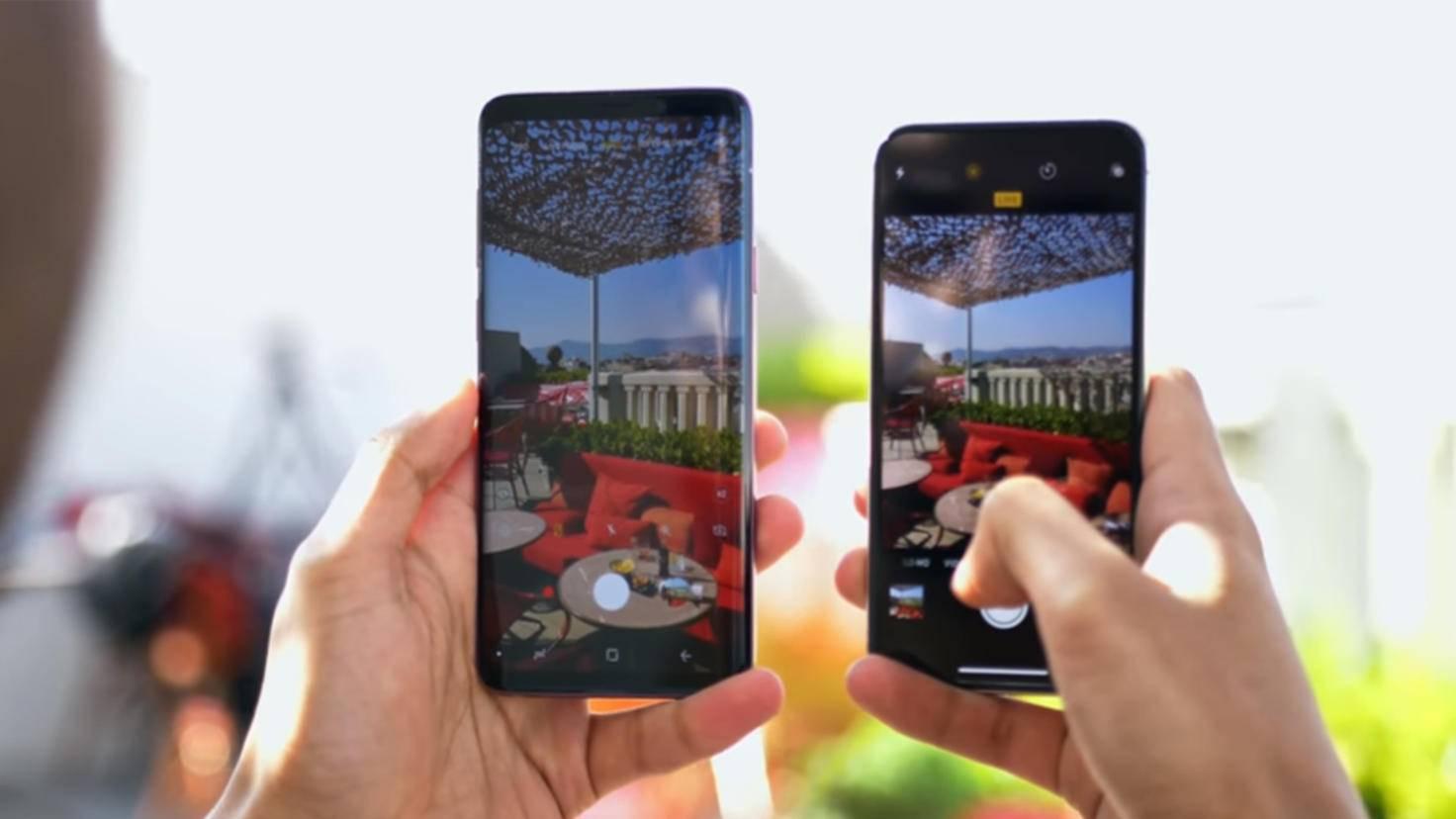 iPhone X Galaxy S9 2