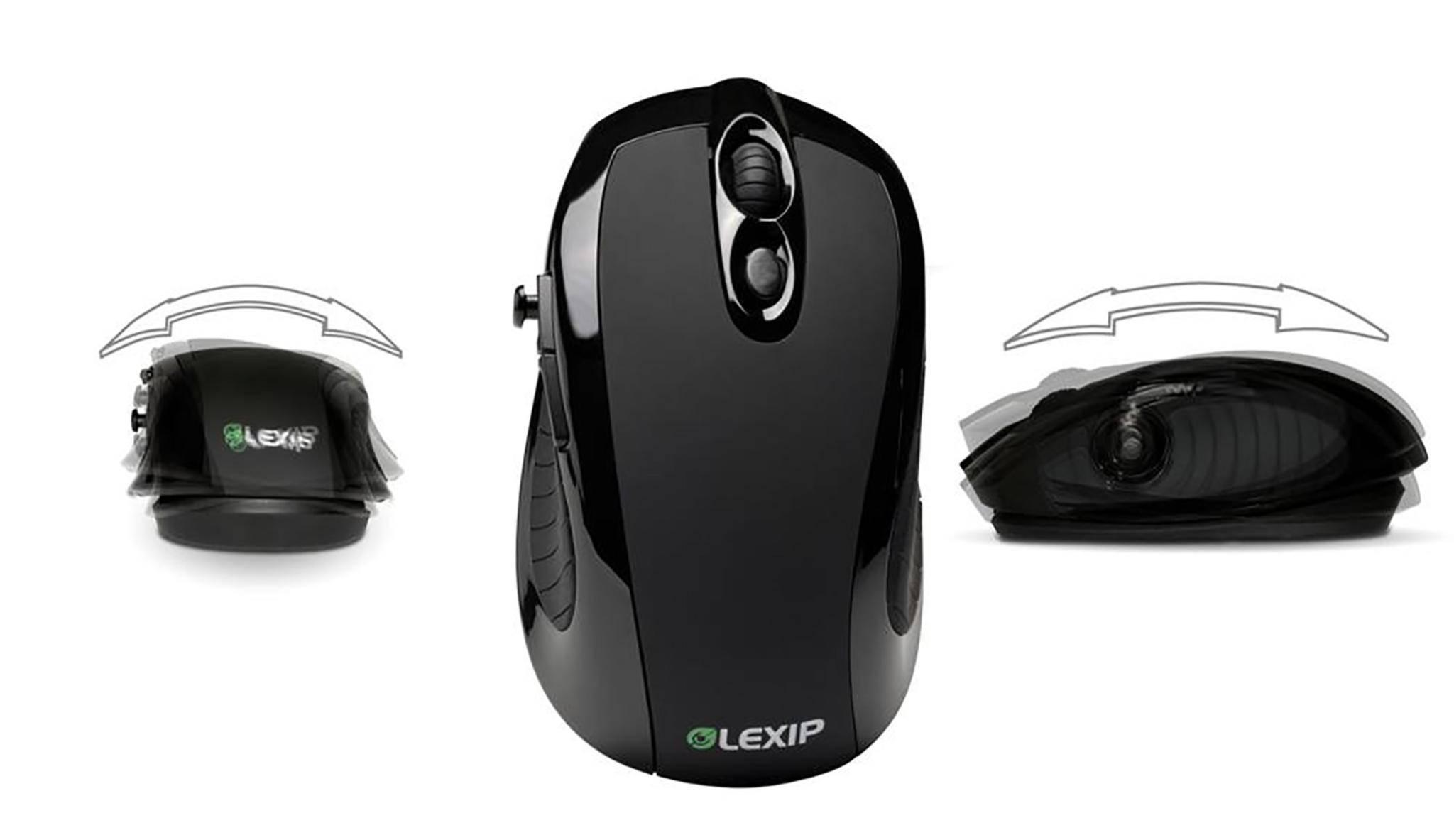 Die Lexip hat einen eingebauten Joystick, der durch Kippen und Neigen des Gehäuses bedient wird.