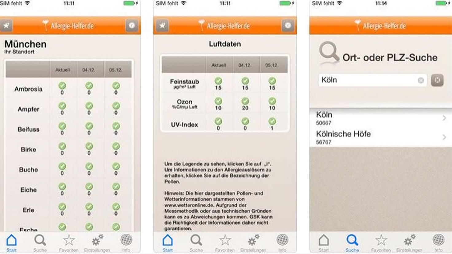 Allergiehelfer-Pollen-App-iTunes-GlaxoSmithKline PLC