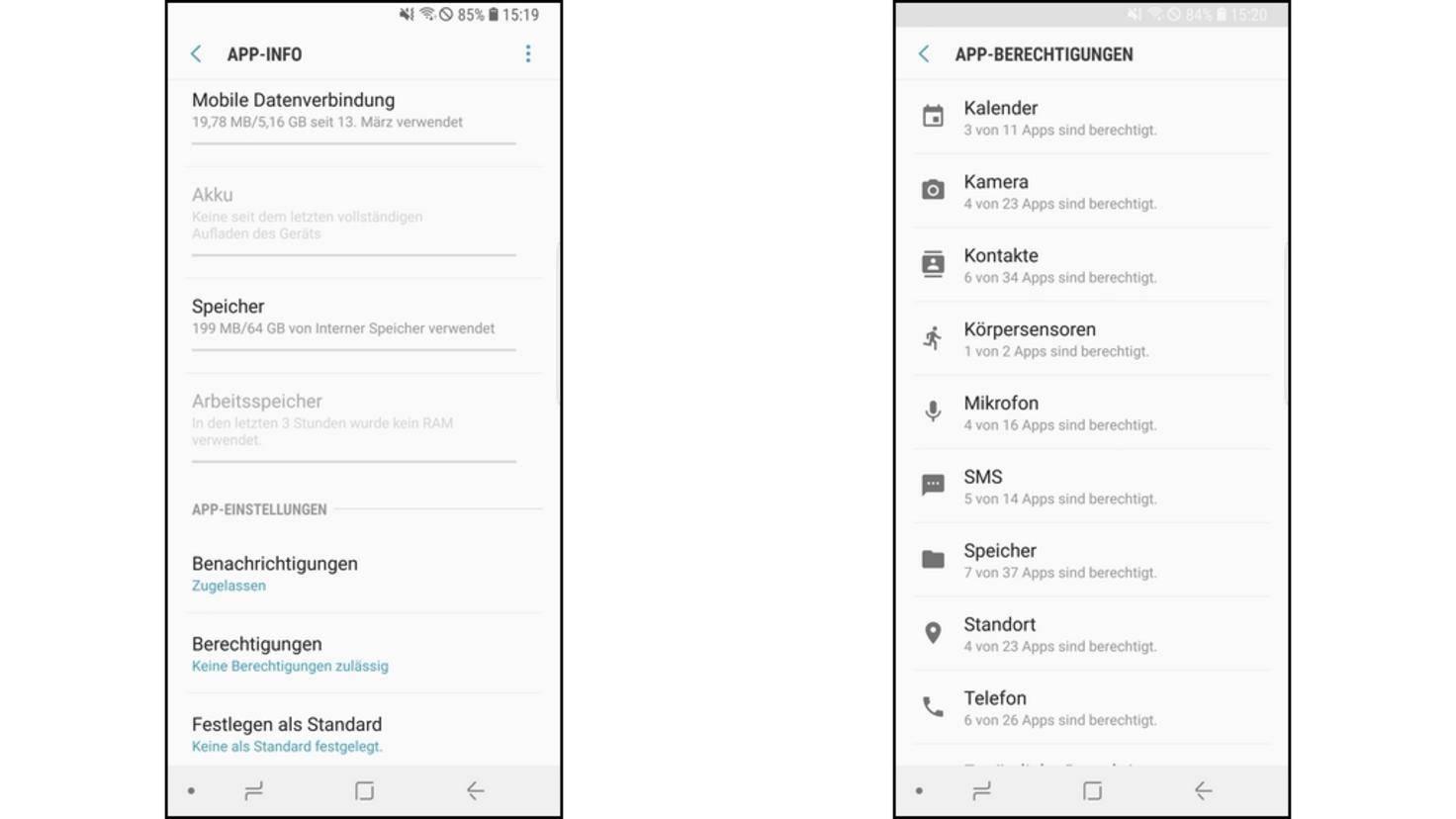 App-Berechtigungen-Samsung
