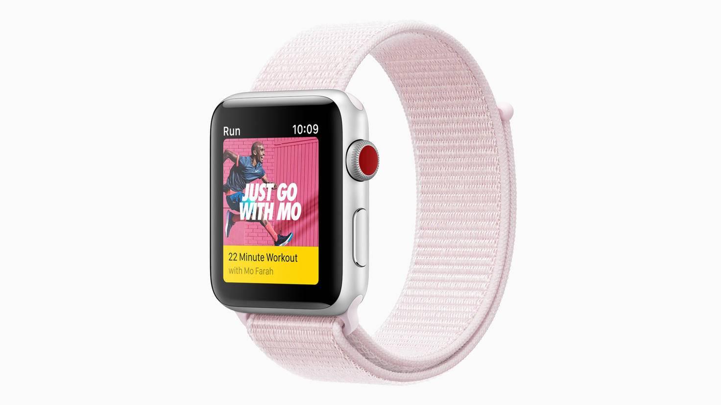 Die Loop-Variante des Nike-Sports-Armbands kann per Klettverschluss befestigt werden.