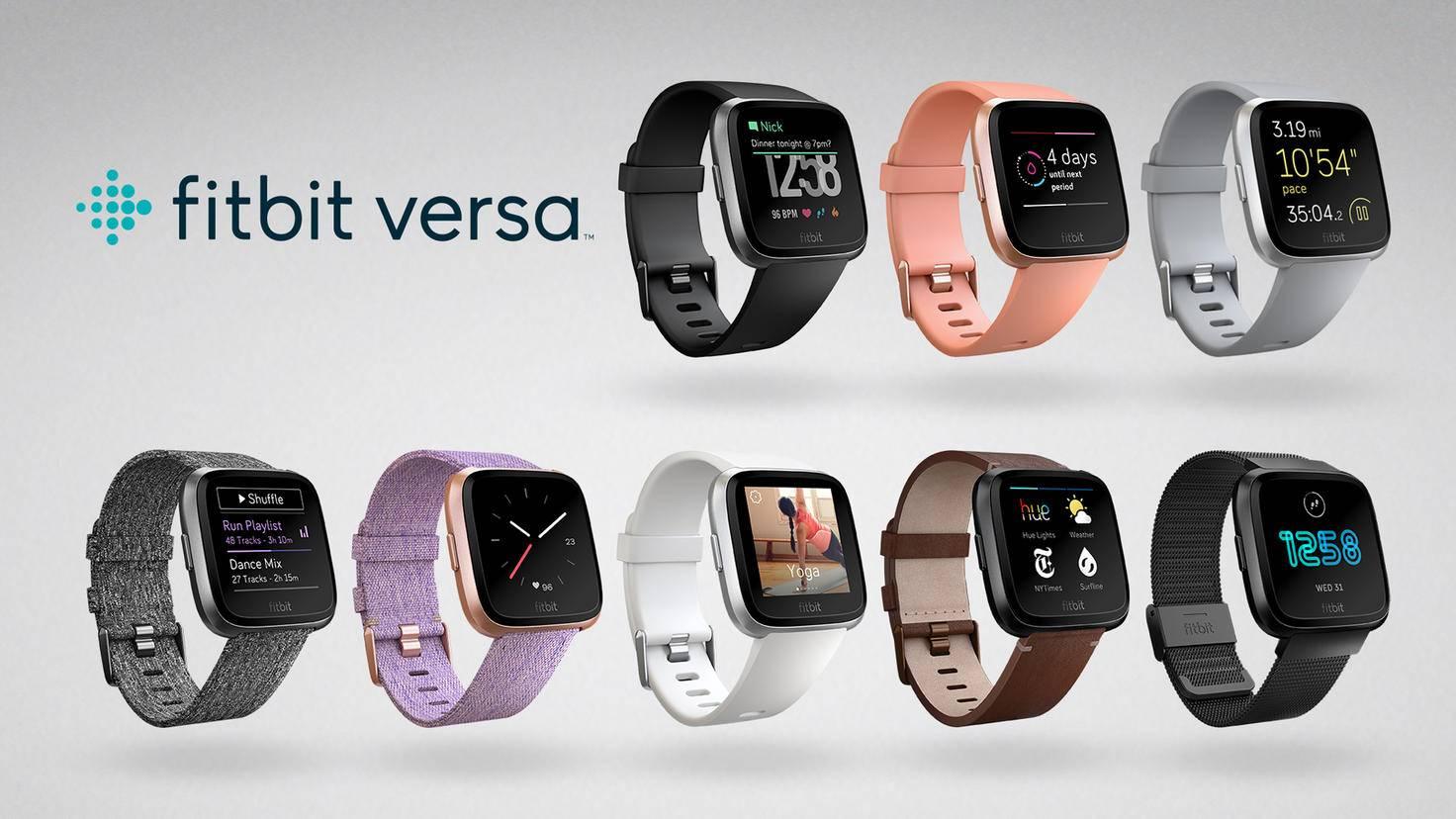 Die Fitbit Versa kommt in vielen verschiedenen Designs auf den Markt.