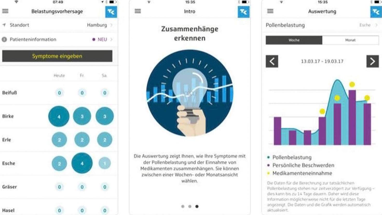 Husteblume-Pollenflug-App-iTunes-Techniker Krankenkasse