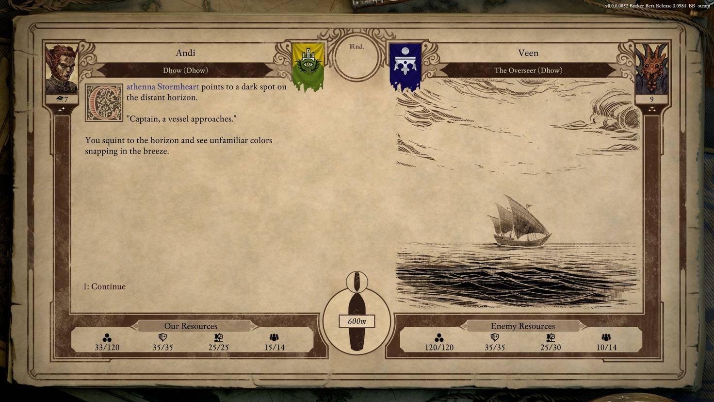 Ein feindliches Schiff nähert sich...