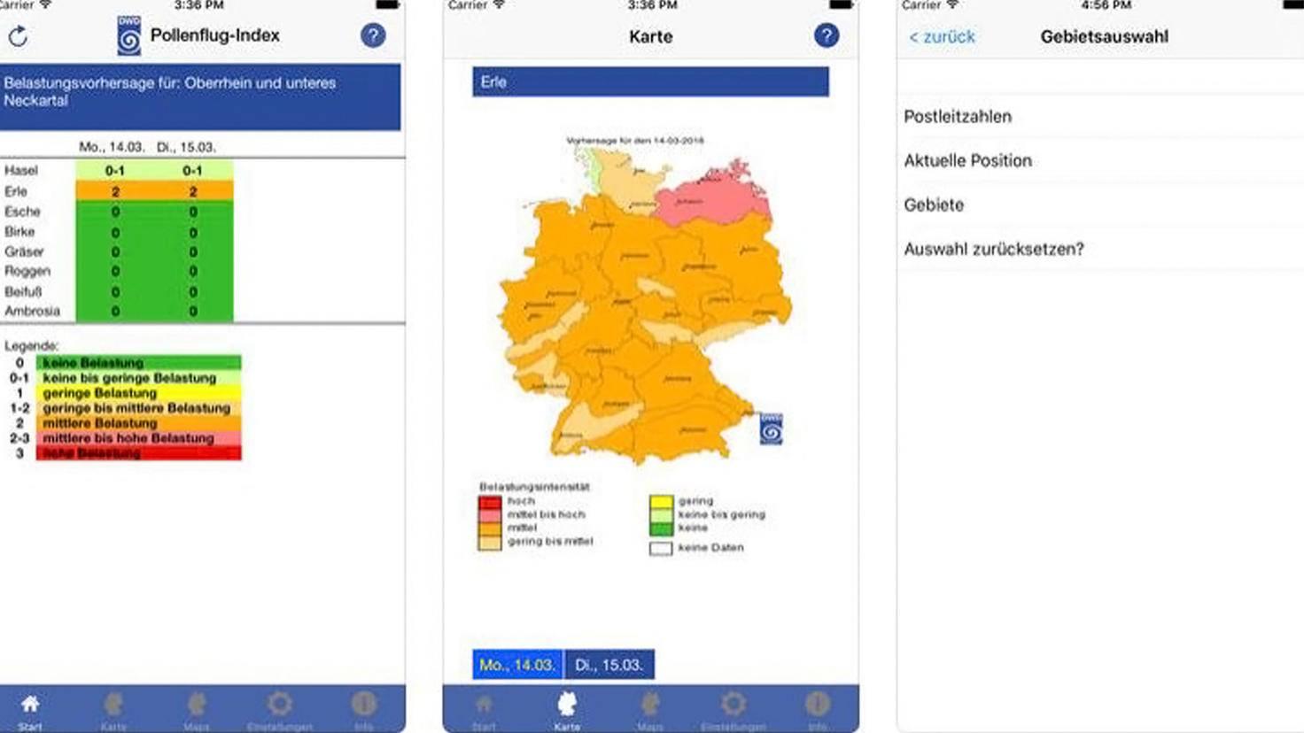 Pollenflug-Gefahrenindex-App-iTunes-Deutscher Wetterdienst-dwd