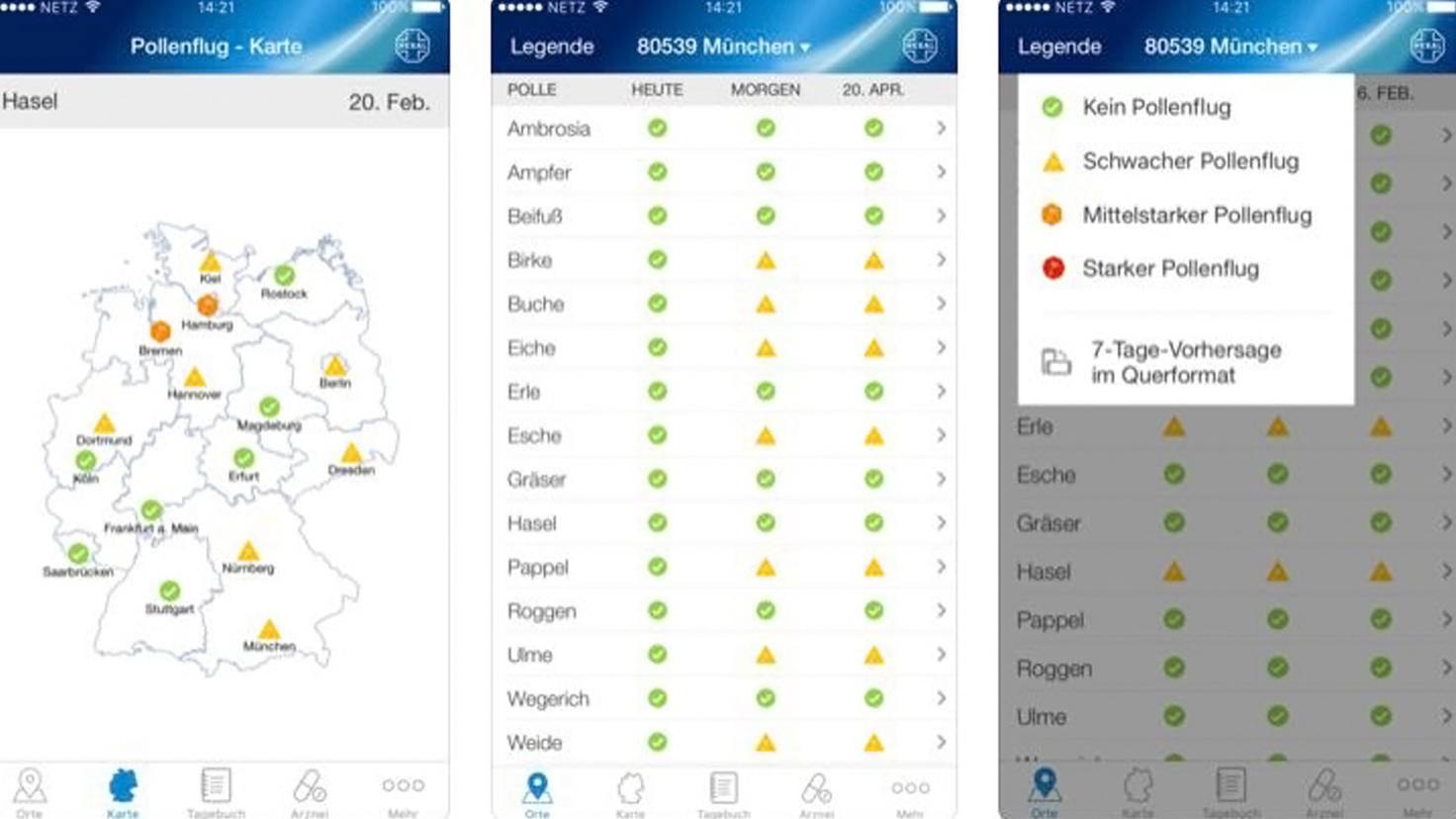 Pollenflug-Vorhersage-App-iTunes-Hexal AG
