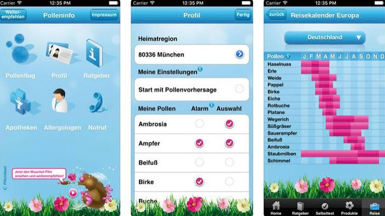 Polleninfo-Pollenflug-App-iTunes-Bauch & Lomb Incorporated