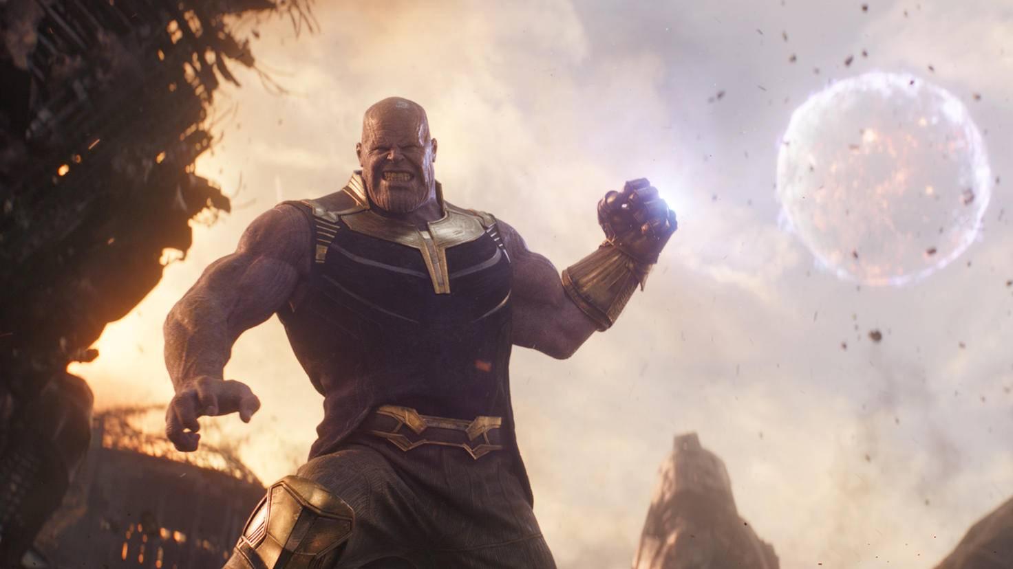 """Stark: Nicht einmal Donnergott Thor und der Hulk hatten Thanos in """"Infinity War"""" etwas entgegenzusetzen."""