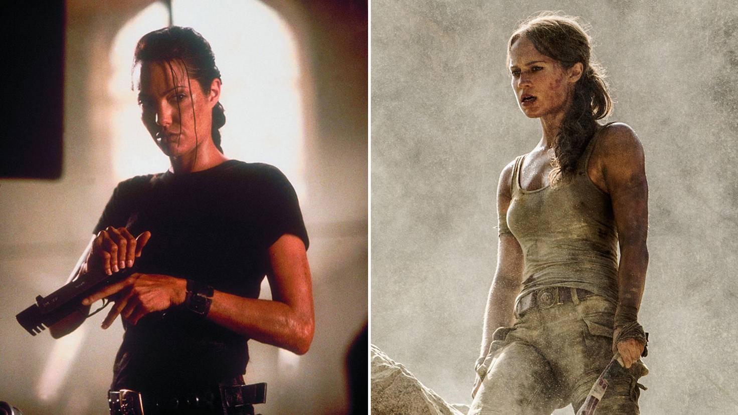 Beide Versionen von Lara Croft sind an ihre Vorlage aus den jeweiligen Games angepasst.