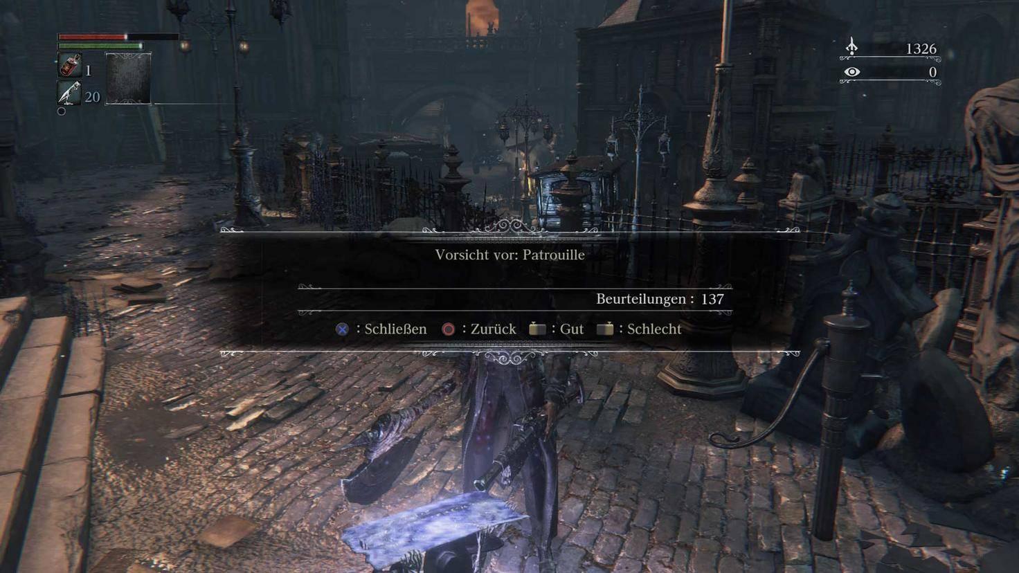 Mal mehr, mal weniger hilfreich: In der Spielwelt können Botschaften hinterlegt werden.