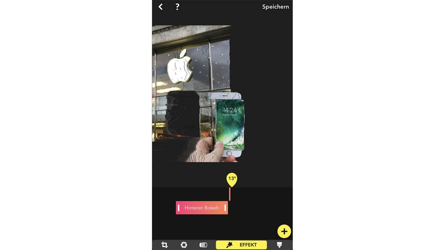 In der 3D-Ansicht kann der Bokeh-Effekt gezielt gesetzt werden.