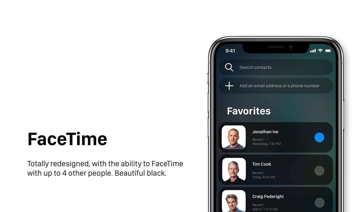Ein Redesign für FaceTime.