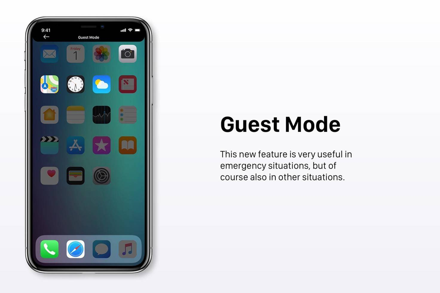 Ein Gast-Modus für andere Nutzer.