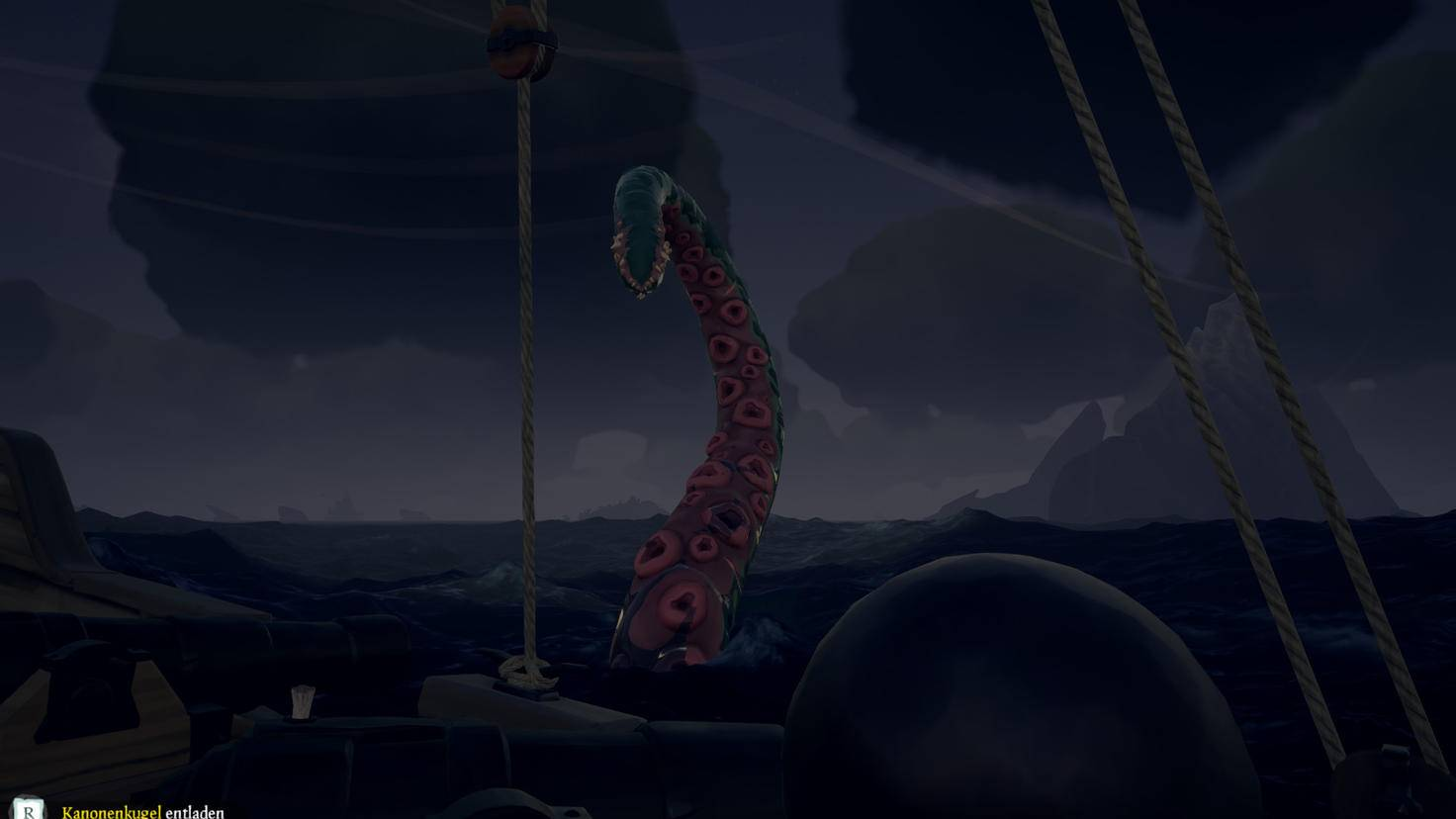 Jetzt wird's ernst: Wenn der Kraken auftaucht, besteht für Schiff und Crew höchste Gefahr!