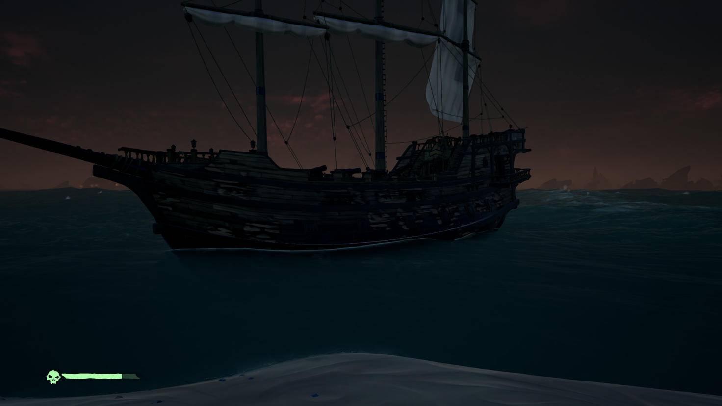 Nach mehreren Begegnungen mit anderen Spielern könnte das Schiff eine Reparatur vertragen.