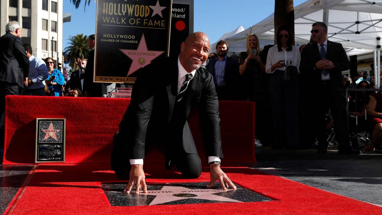 Seit Dezember 2017 hat Dwayne Johnson seinen eigenen Stern auf dem Hollywood Walk of Fame.