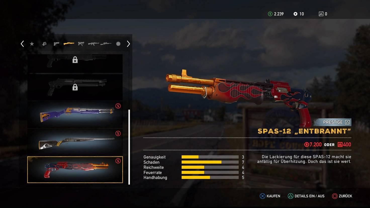 """Schrille Optik: Die SPAS-12 ist der getunte Hot Rod unter den """"Far Cry 5""""-Gewehren."""