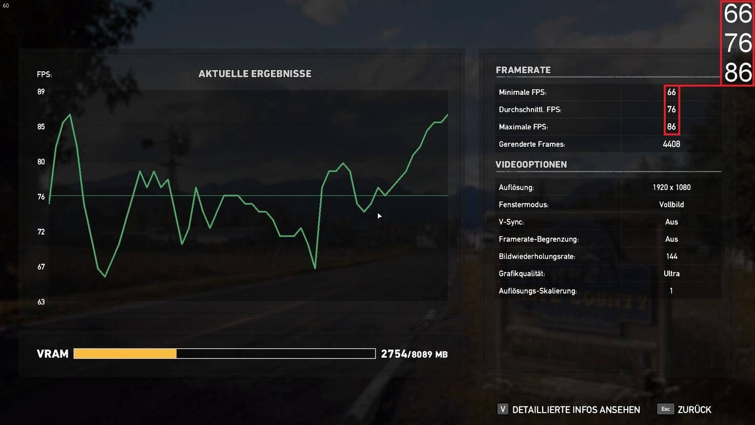 """Der Gigabyte Aero 15X schafft bei """"Far Cry 5"""" im Schnitt 76fps."""