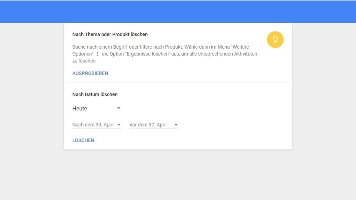 Google-Suchverlauf-Löschen-Browser