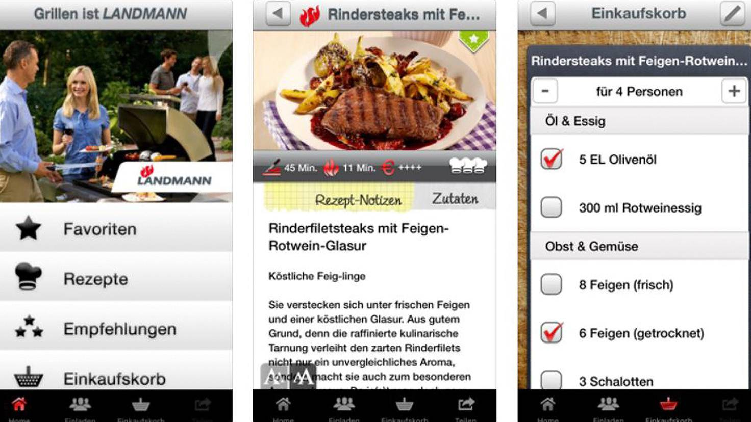 Grillen Grillrezepte App Landmann-iTunes-Mobilinga GmbH