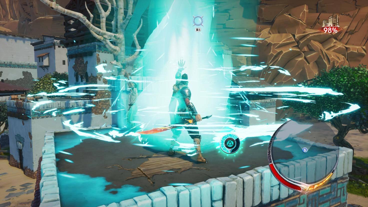 ..., rettet Zivilisten mit magischen Portalen ...