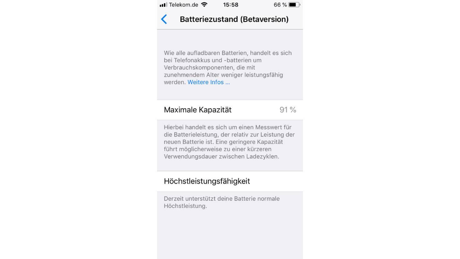 iPhone-Akkumanagement