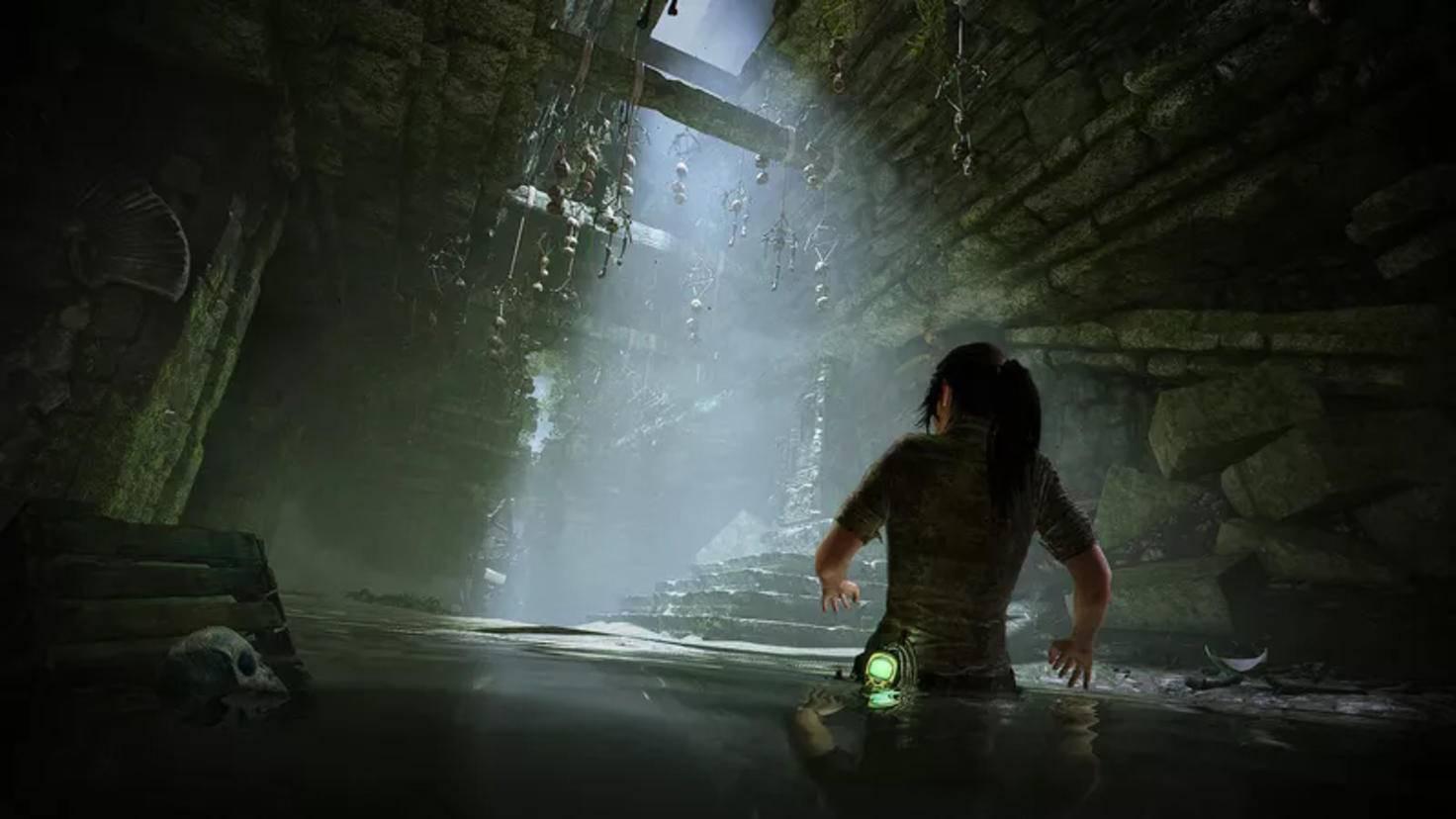 Lara Croft wie man sie kennt: In widrigen Umständen auf der Jagd nach Schätzen.