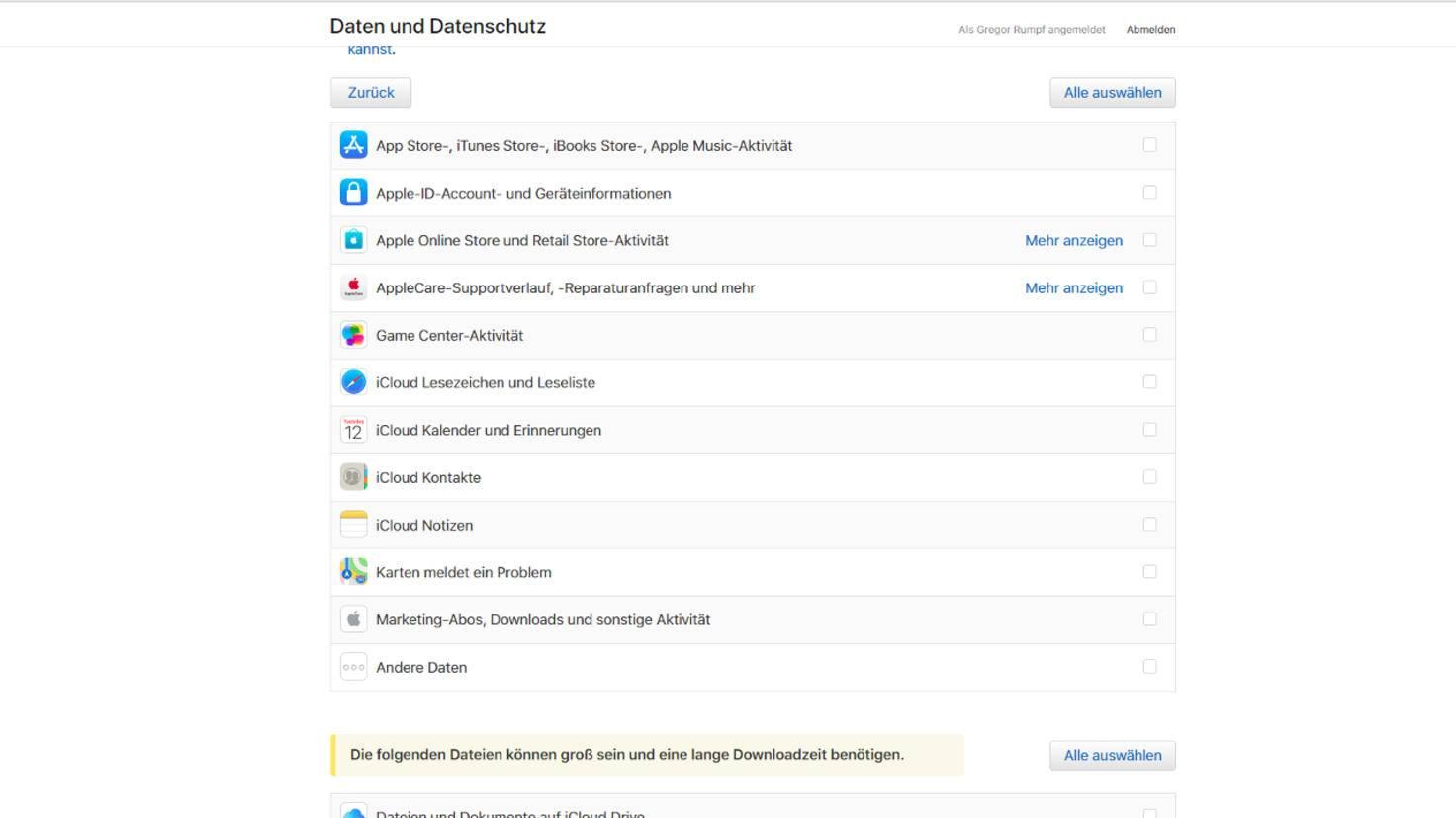 Apple-Daten