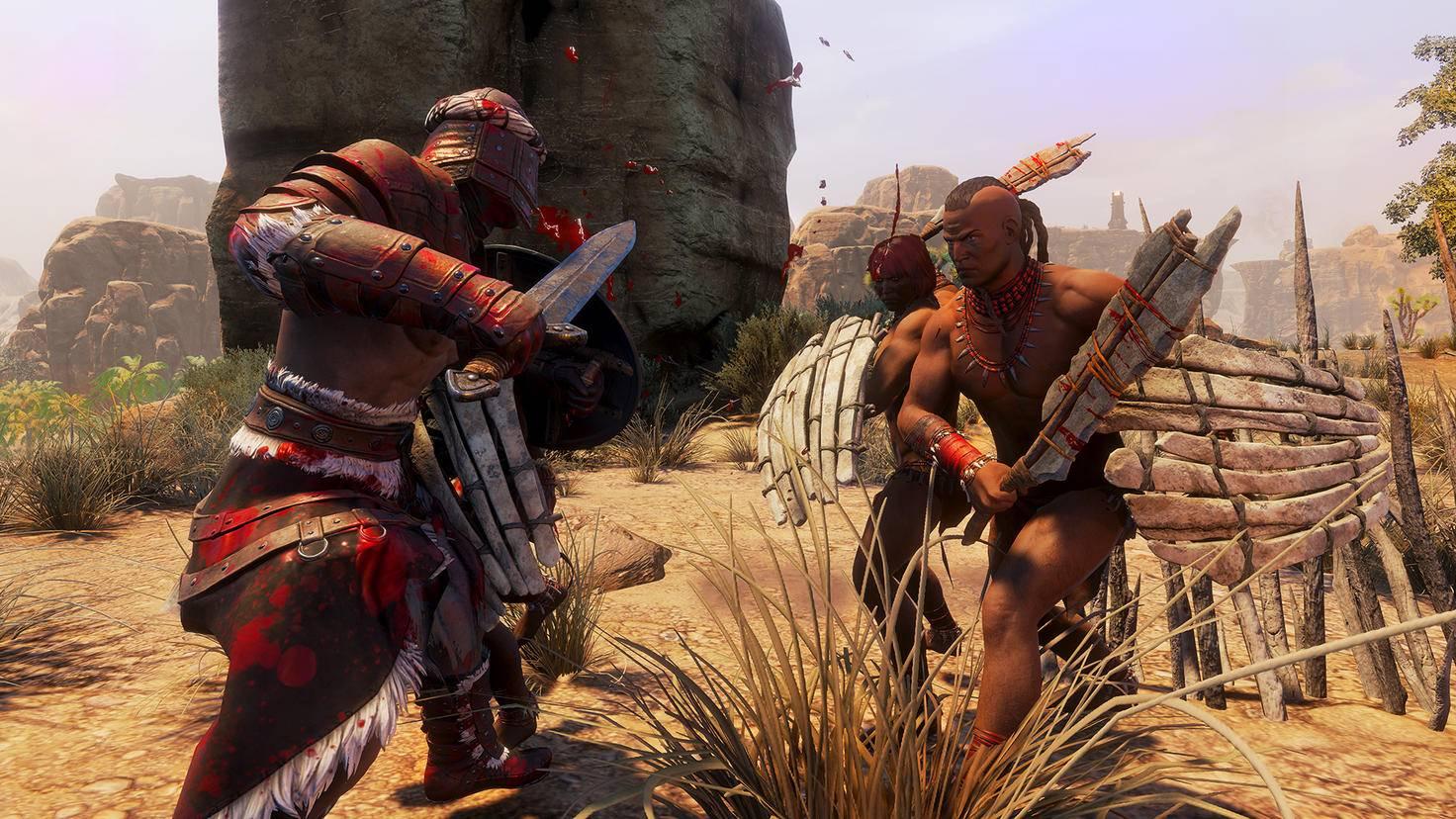 """Andere Spieler sind die härtesten Gegner in """"Conan Exiles"""" – wenn Du online spielst."""