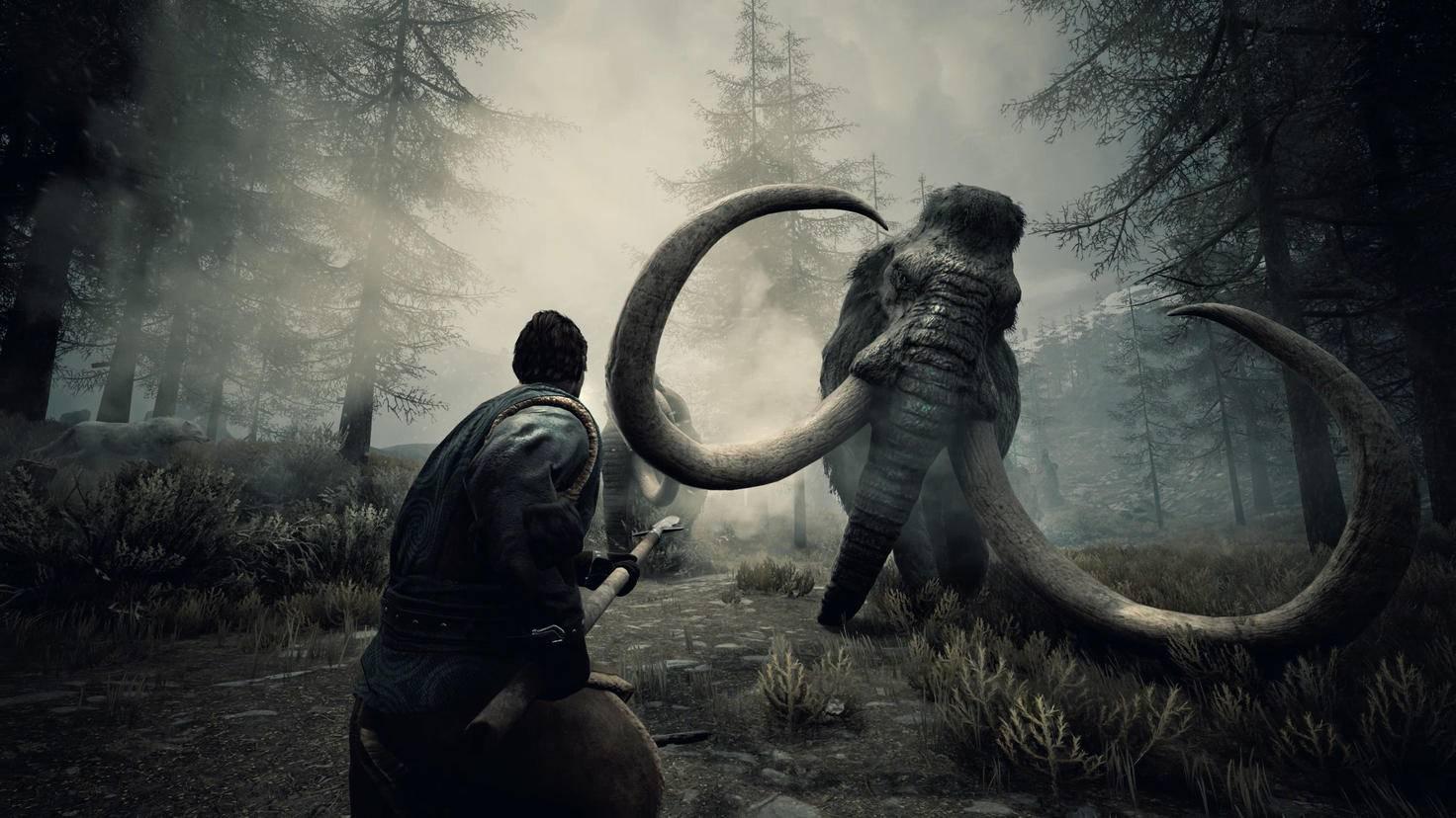 """Wer es in """"Conan Exiles"""" allein mit Mammuts und anderen gewaltigen Kreaturen aufnehmen will, muss hart trainieren."""