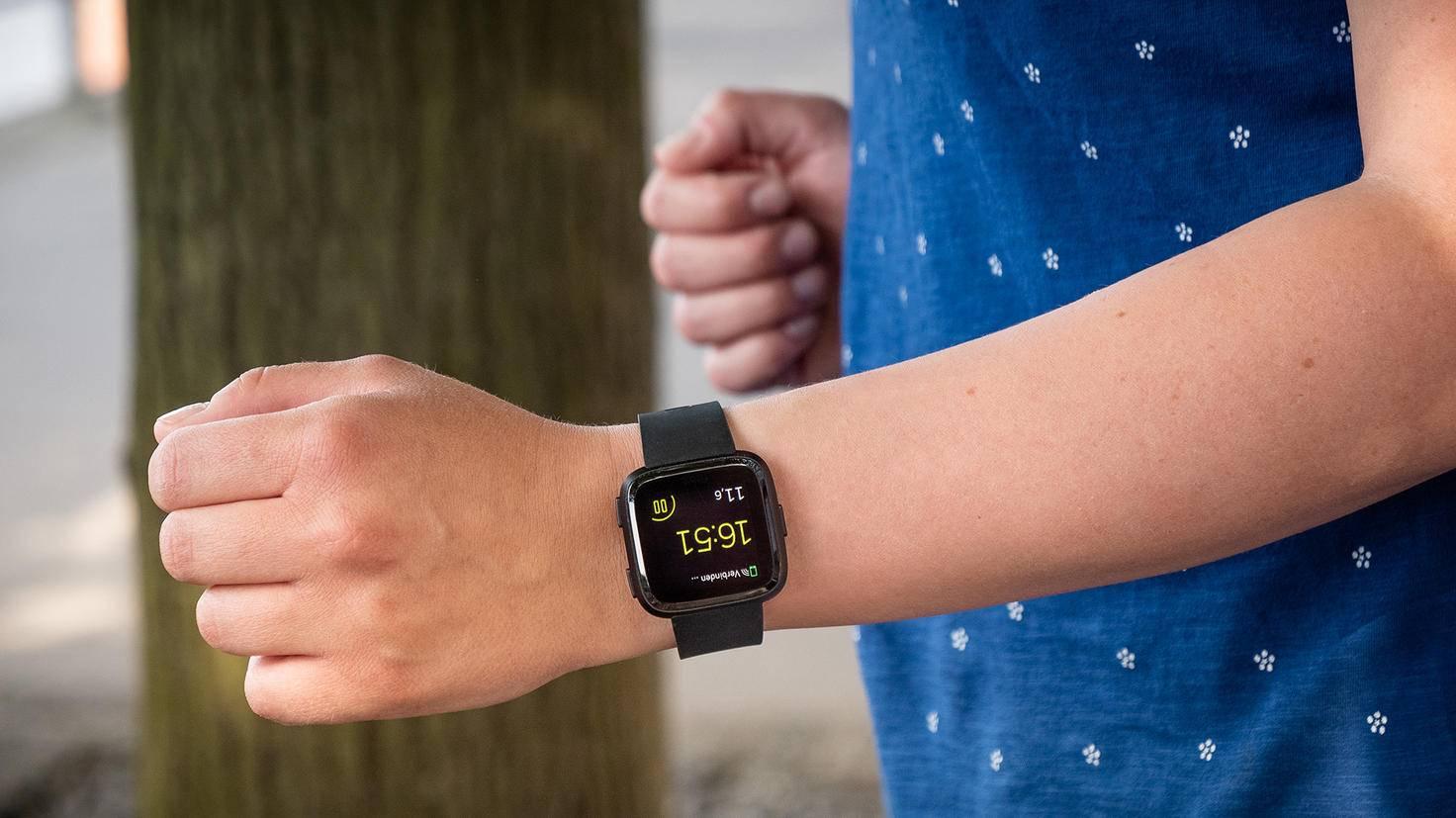 Und Action: Per Knopfdruck lässt sich der Timer für die nächste Joggingrunde starten.